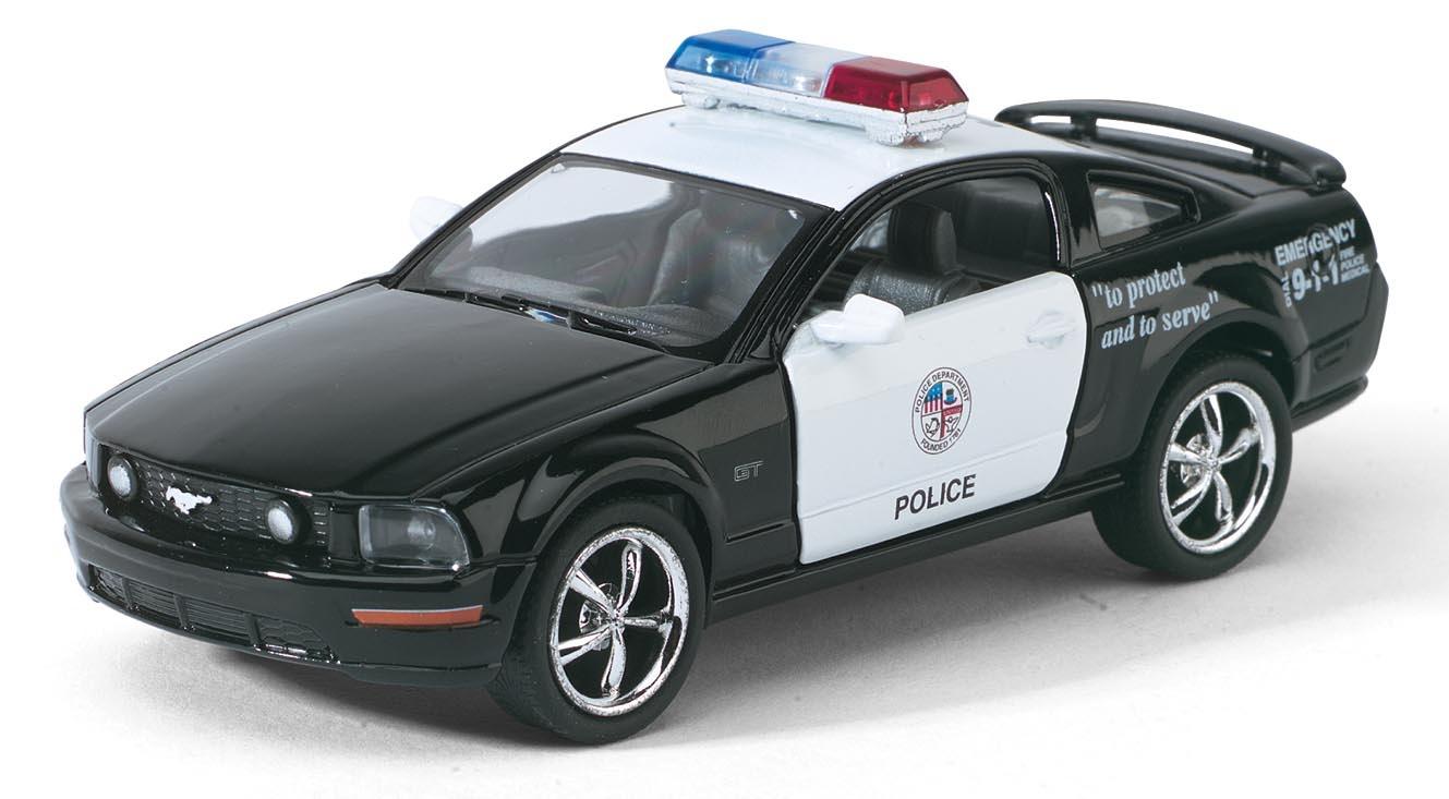 Машинка металлическая с открывающимися дверями, модель 2006 Ford Mustang GT (Police)