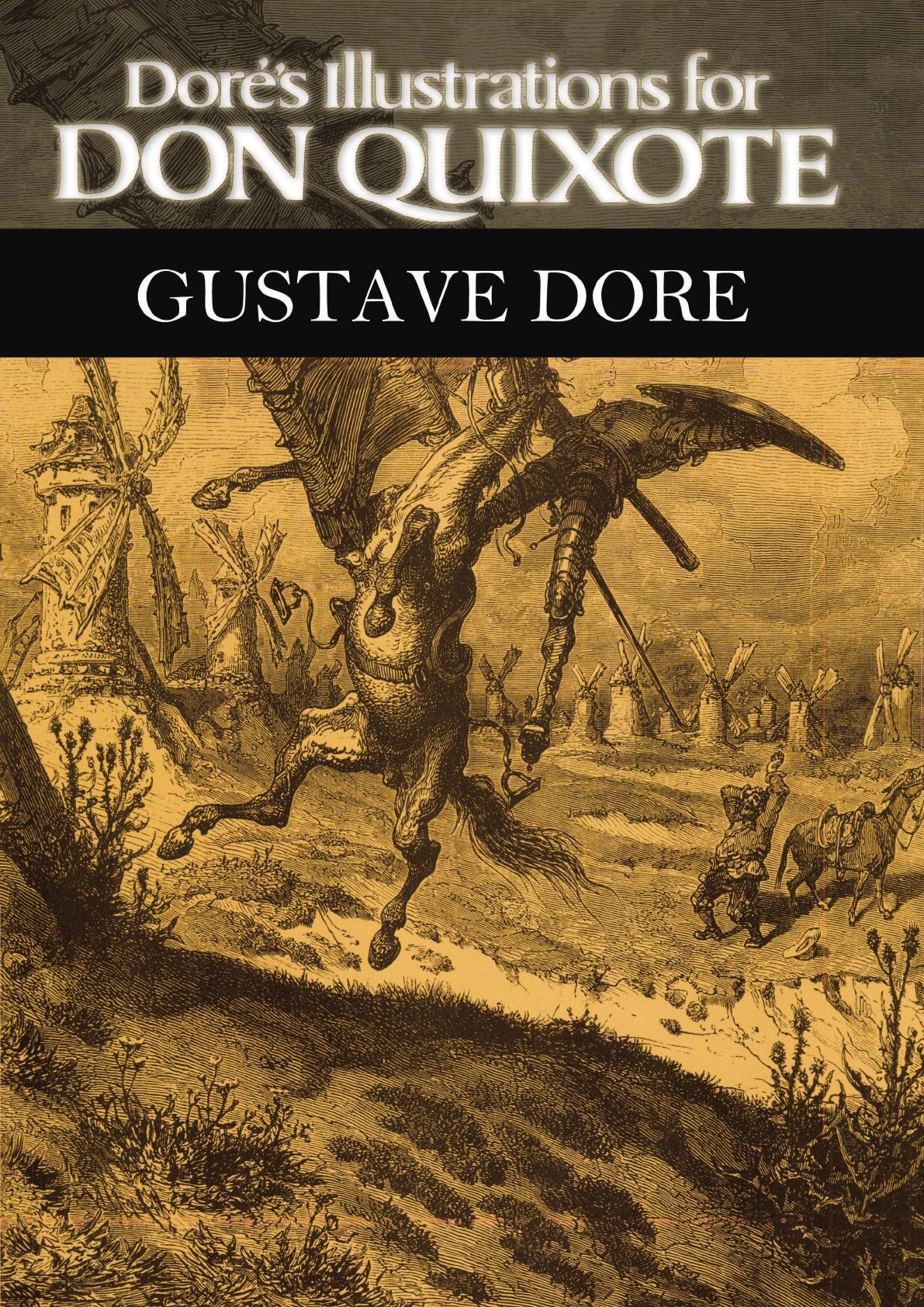 Gustave Dore Dore's Illustrations for Don Quixote full page bookmark magnifier
