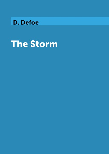 D. Defoe The Storm rara masterson the storm is over