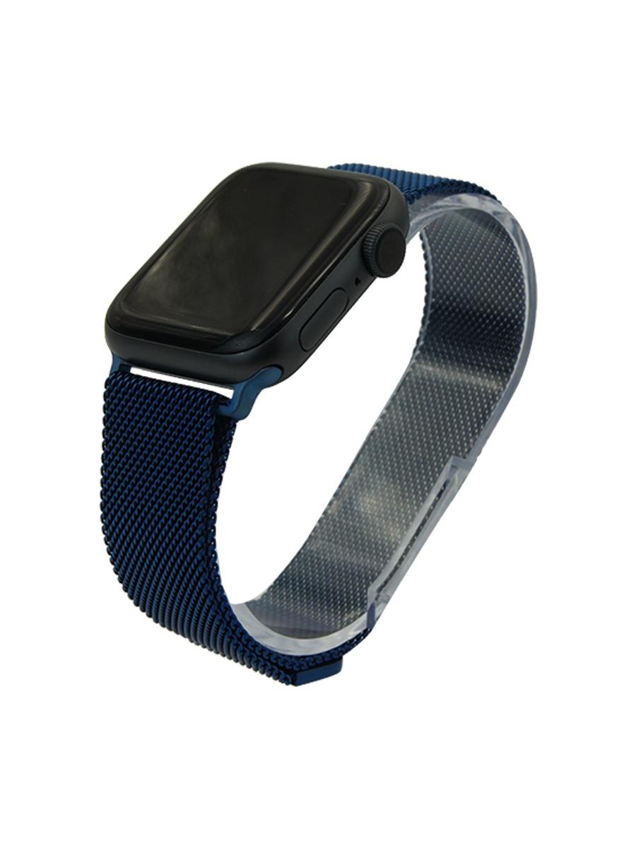 Ремешок для часов Apple Watch 38-40 мм миланская петля темно-синий His ремешок dbramante1928 mode madrid для apple watch 38 мм темно розовый