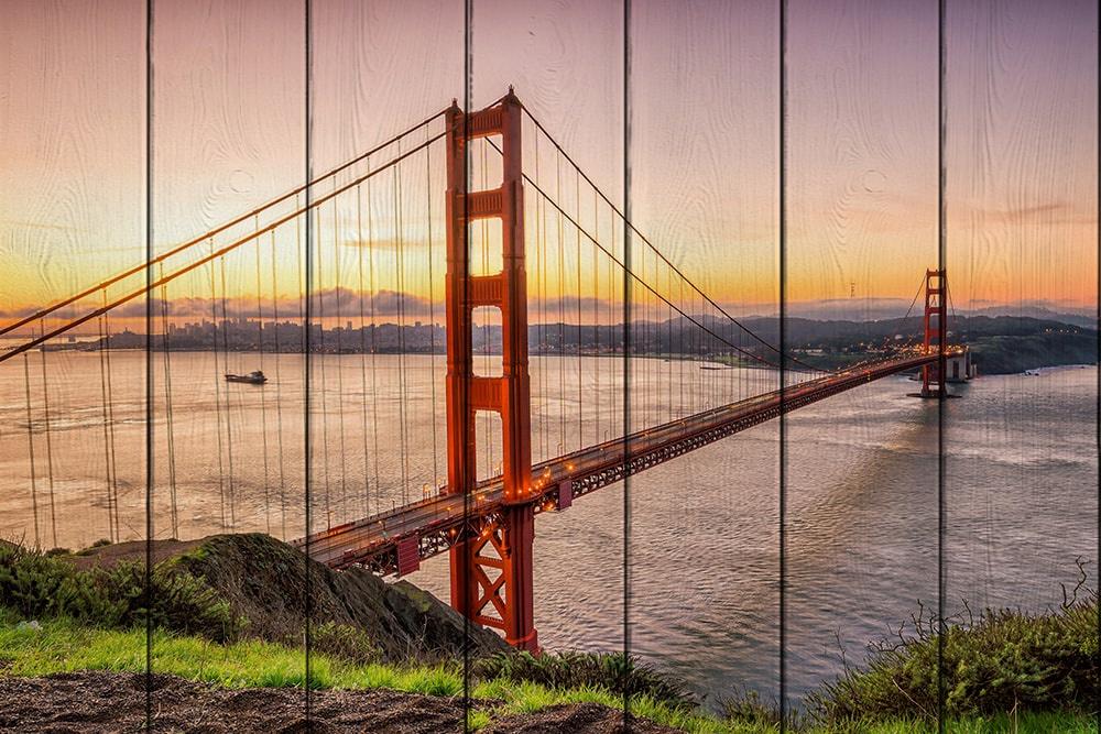 Мост Золотые ворота 60 х 90 см