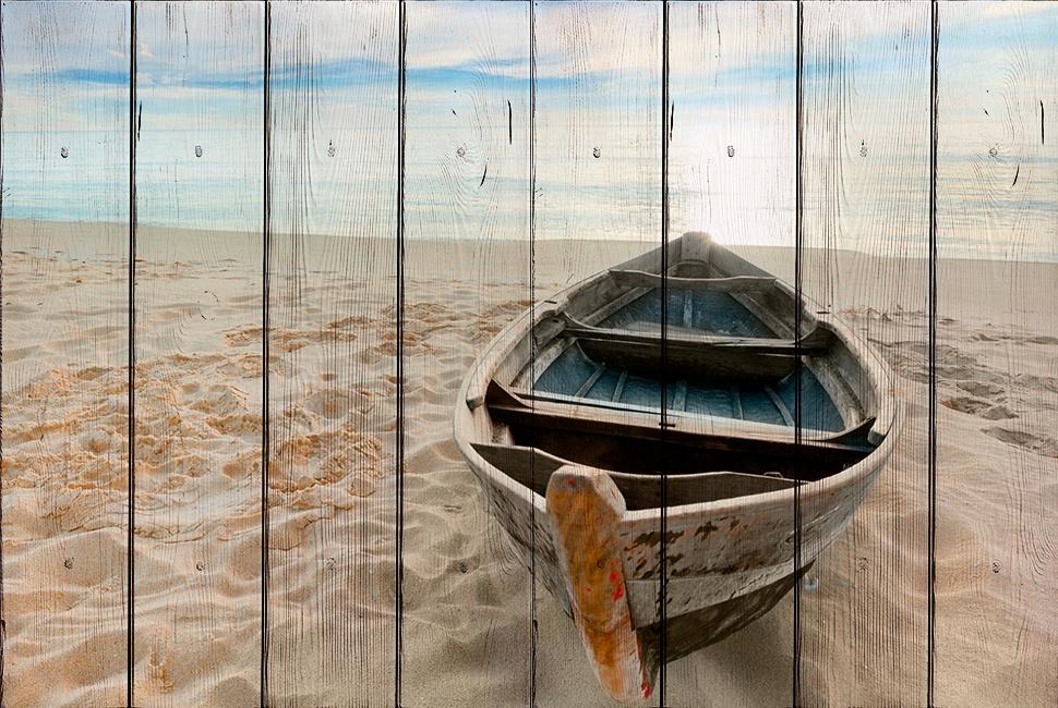Лодка на берегу 30 х 40 см цена