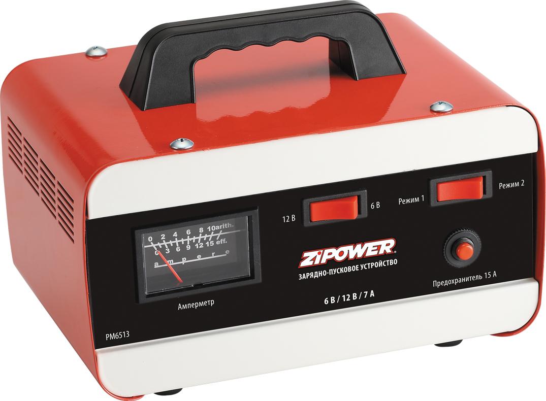 Пуско-зарядное устройство Zipower, PM6513, с функцией автоматического отключения, 6/12В, 2А