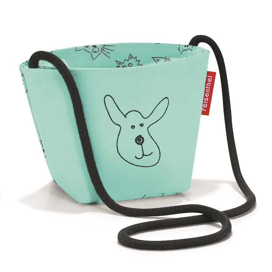 Сумка детская Reisenthel Minibag Cats and dogs mint малыш kid дети schoolbag для мальчика девочка 3d мультфильм животных рюкзак мешок школы детский сад дети детская сумка