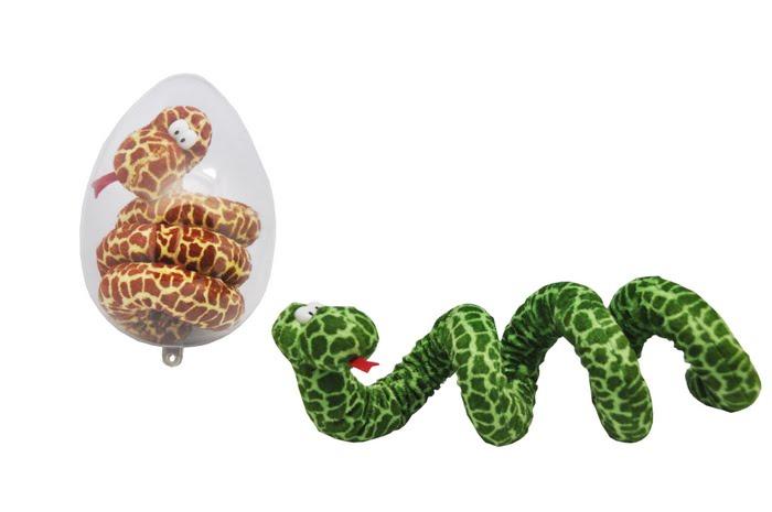 купить Удавчик Плюшевый: 75см. (яйцо пластик) по цене 350 рублей
