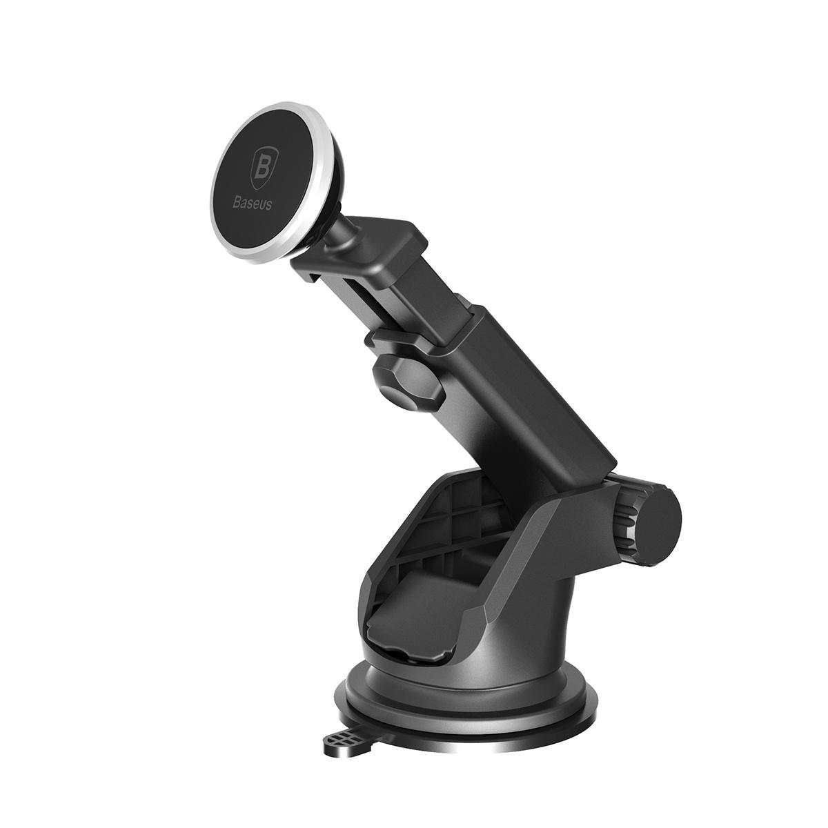 Фото - Магнитный автомобильный держатель Baseus Solid Series Telescopic Magnetic Car Mount SULX-0S (серебристый) [супермаркет] jingdong геб scybe фил приблизительно круглая чашка установлена в вертикальном положении стеклянной чашки 290мла 6 z