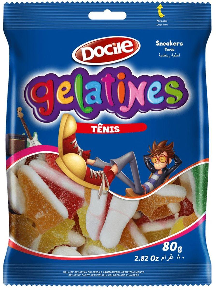 Жевательный мармелад Docile Gelatines Sour Sneakers, со вкусом ягод и фруктов, 80 г мармелад trolls клубничка из свежих ягод 105 г