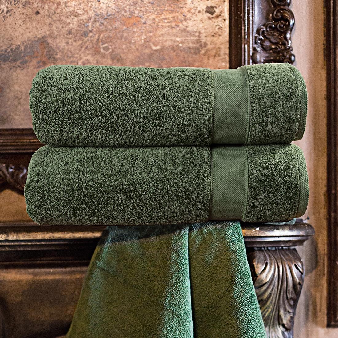 """Набор из 2 полотенец """"Аберден"""" Цвет: Зеленый (70х140 см - 2 шт)"""