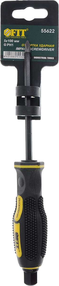 Отвертка крестовая FIT, ударная, РН1 х 100 мм