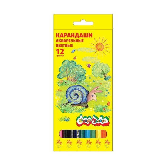 Фото - Карандаши акварельные Каляка-Маляка 12 цветов карандаши цветные каляка маляка 24 цвета