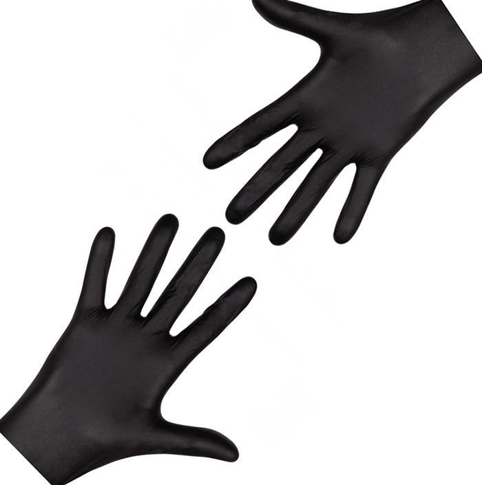Перчатки одноразовые нитриловые черные (100 шт/уп)