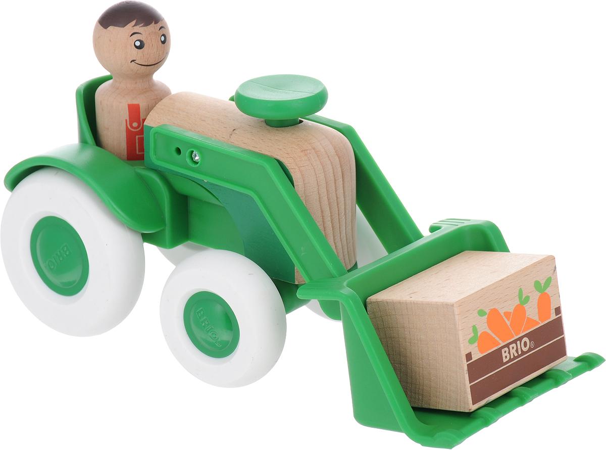 Игровой набор Brio Мой родной дом Трактор с морковкой, 30307