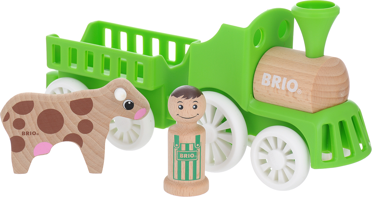 Игровой набор Brio Мой родной дом Фермерский поезд, 30267