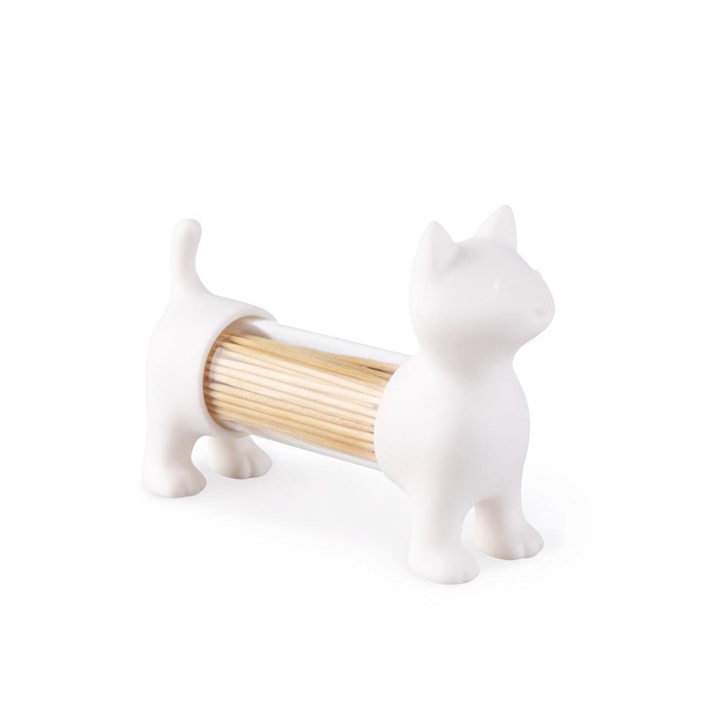 Balvi Емкость для соли, перца или зубочисток Cat белый