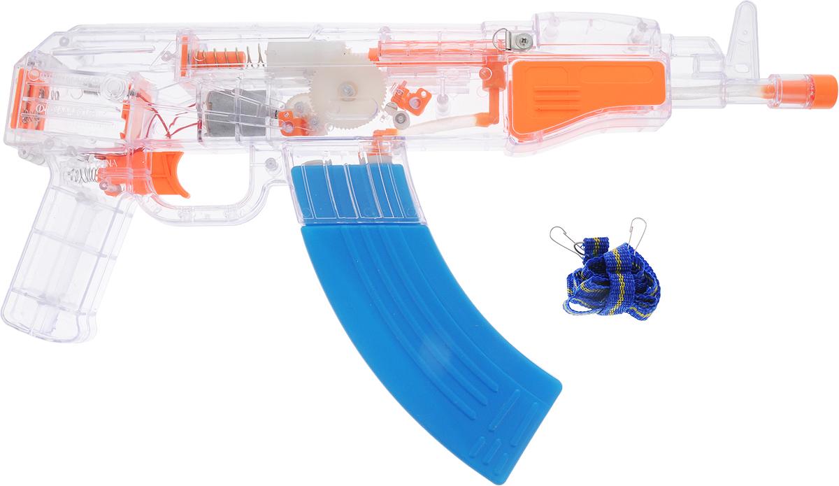 Игрушечное оружие 1TOY Аквамания Водяной автомат, на батарейках, Т59474, 40 х 22 см игрушечное оружие pixel crew автомат м16 8бит синий пиксельный 62 см