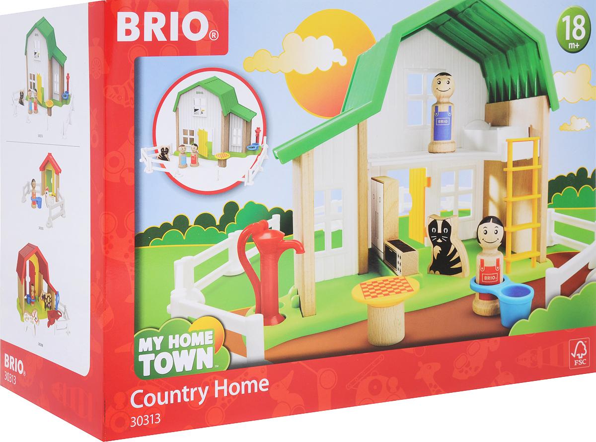 Игровой набор Brio Мой родной дом Загородный дом, 30313 игровой набор brio smart tech железнодорожный набор 33873 17 элементов
