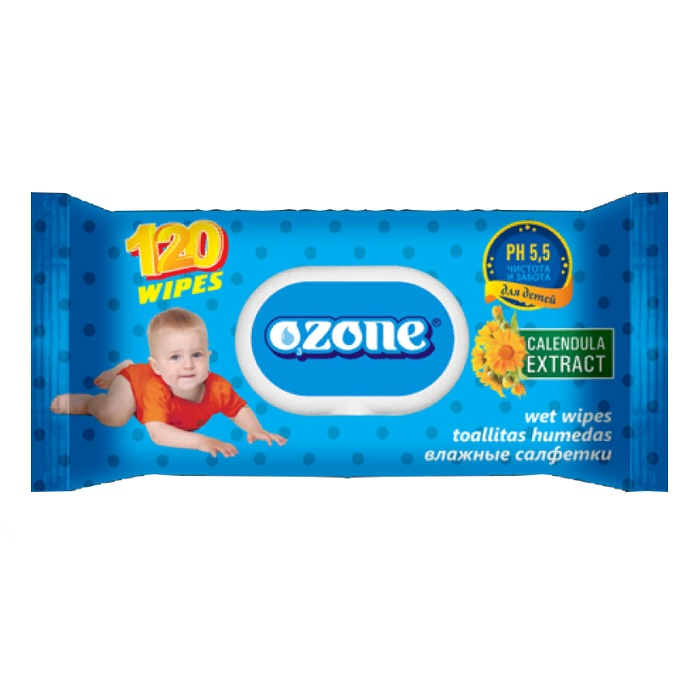Влажные салфетки Ozone (Детские), 72 шт аура салфетки детские влажные ультра комфорт 72