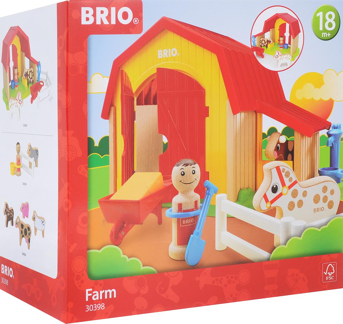 Игровой набор Brio Мой родной дом Ферма, 30398 игровой набор brio smart tech железнодорожный набор 33873 17 элементов