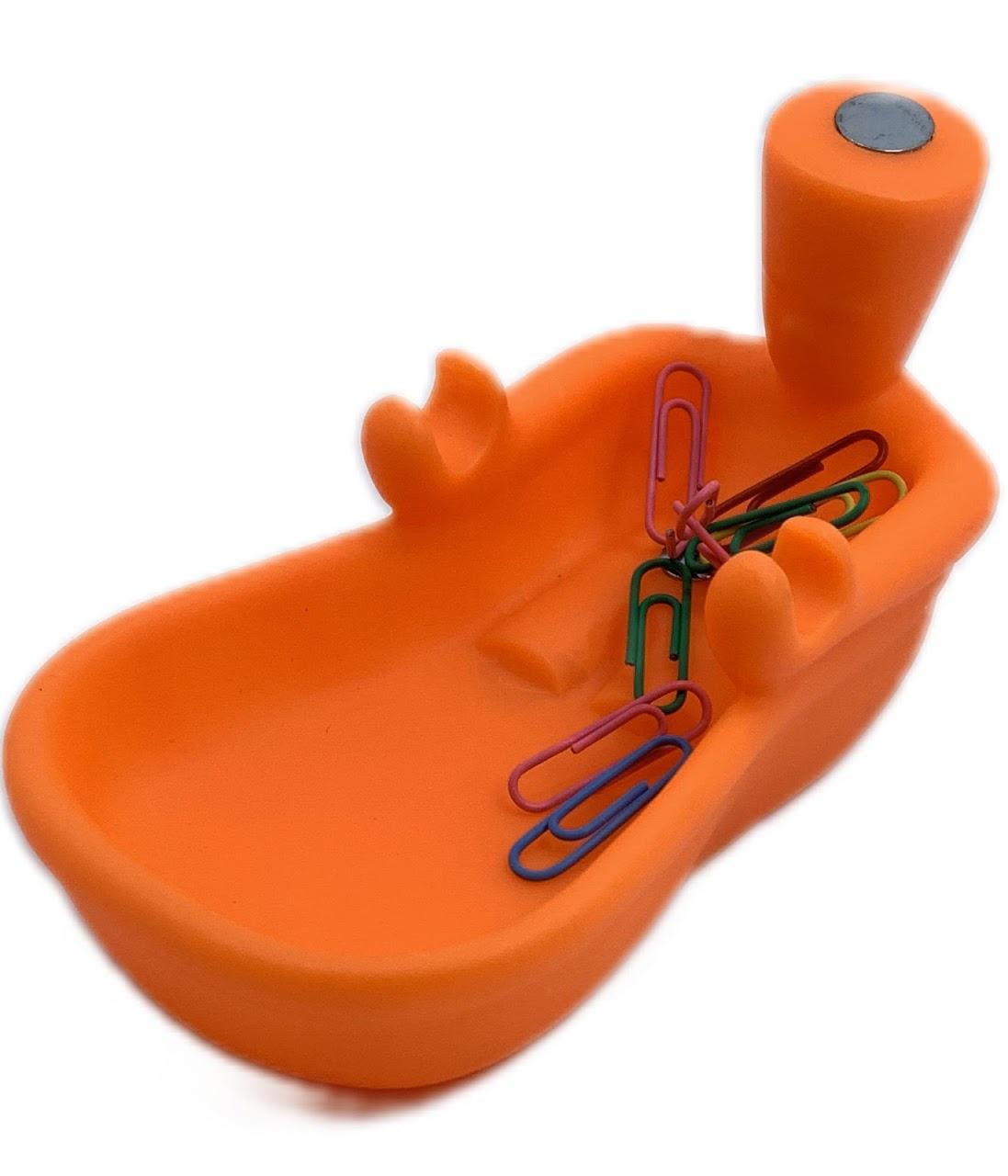 Подставка под канцтовары Ванная оранжевый