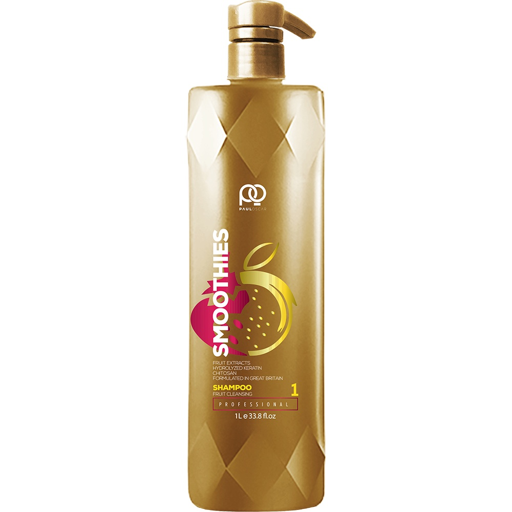 Шампунь для волос Paul Oscar Smoothies Smooth & Silky Fruit Cleansing Shampoo, step 1, 1000 мл недорого