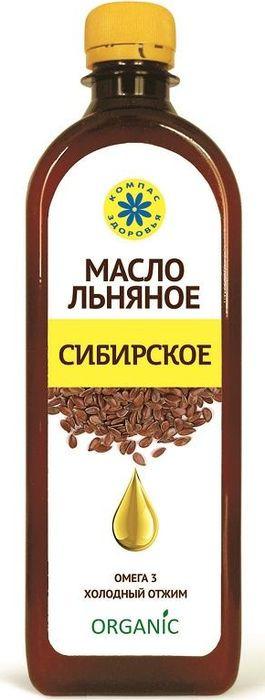 Масло Льняное Компас Здоровья Сибирское, 0,5 л масло льняное компас здоровья сибирское 0 2 л