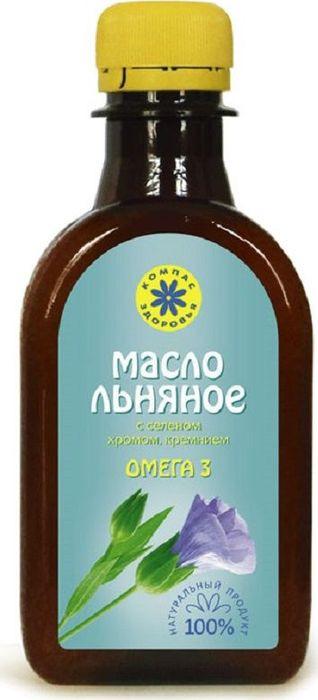 Льняное масло Компас Здоровья, с селеном, хромом, кремнием, 200 мл масло льняное с селеном хромом кремнием 200 мл компас здоровья правильное питание