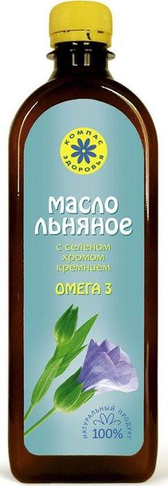 Льняное масло Компас Здоровья, с селеном, хромом, кремнием, 500 мл масло льняное с селеном хромом кремнием 200 мл компас здоровья правильное питание