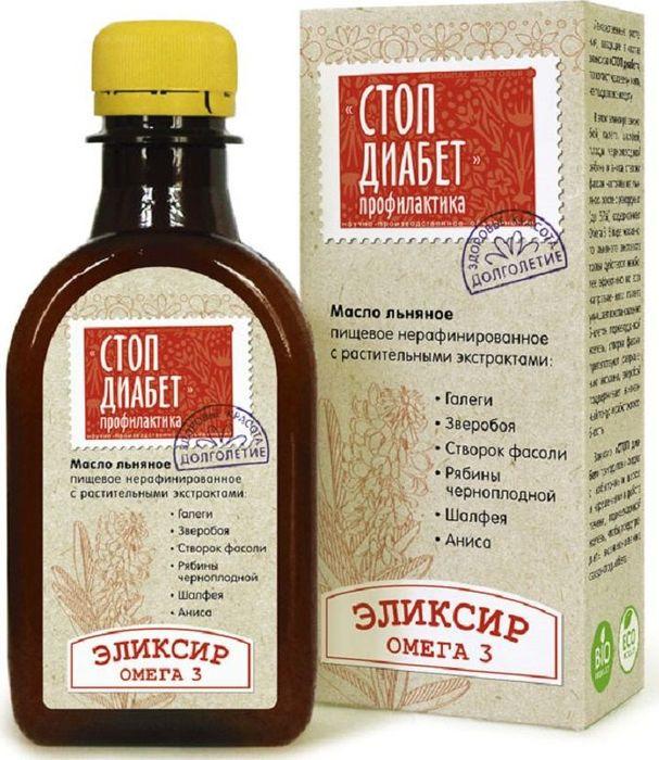 Масло Льняное Компас Здоровья Стоп Диабет, 0,2 л масло льняное компас здоровья сибирское 0 2 л