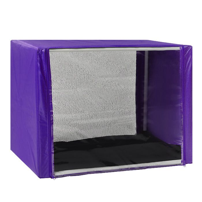 Клетка для животных Заря-Плюс, выставочная, разборная, цвет: сиреневый, 90 см х 70 см х 70 см. КВР2 палатка greenell виржиния 6 плюс green