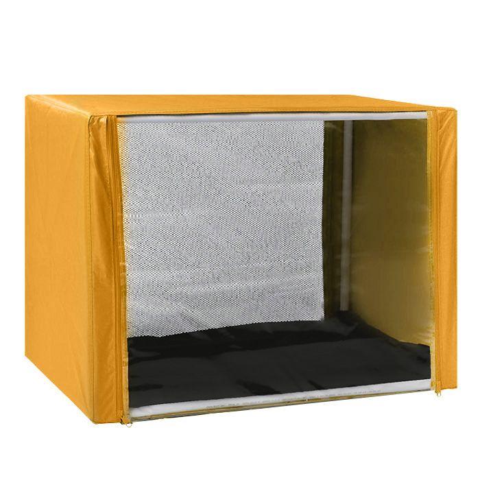 "Клетка для животных ""Заря-Плюс"", выставочная, разборная, цвет: желтый, 90 см х 70 см х 70 см. КВР2"