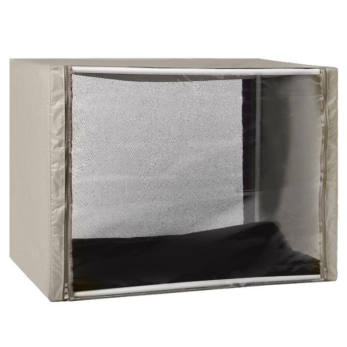 Клетка для животных Заря-Плюс, выставочная, разборная, цвет: бежевый, 90 см х 70 см х 70 см. КВР2 палатка greenell виржиния 6 плюс green