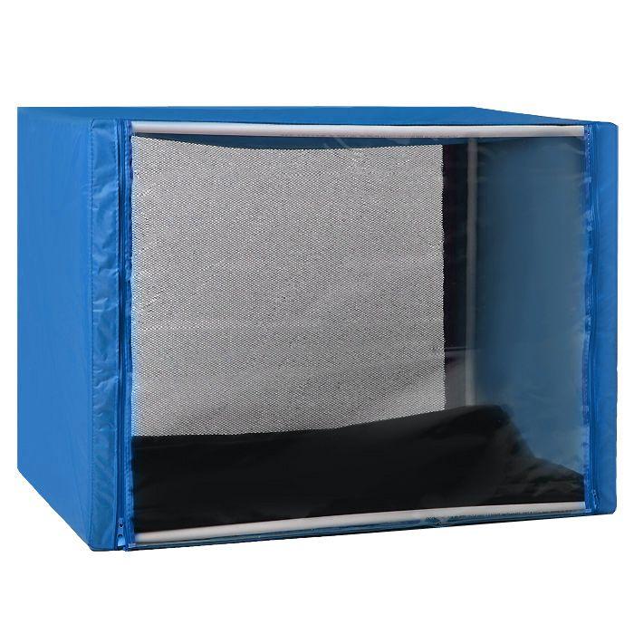 """Клетка для животных """"Заря-Плюс"""", выставочная, разборная, цвет: синий, 100 см х 80 см х 80 см. КВР3"""