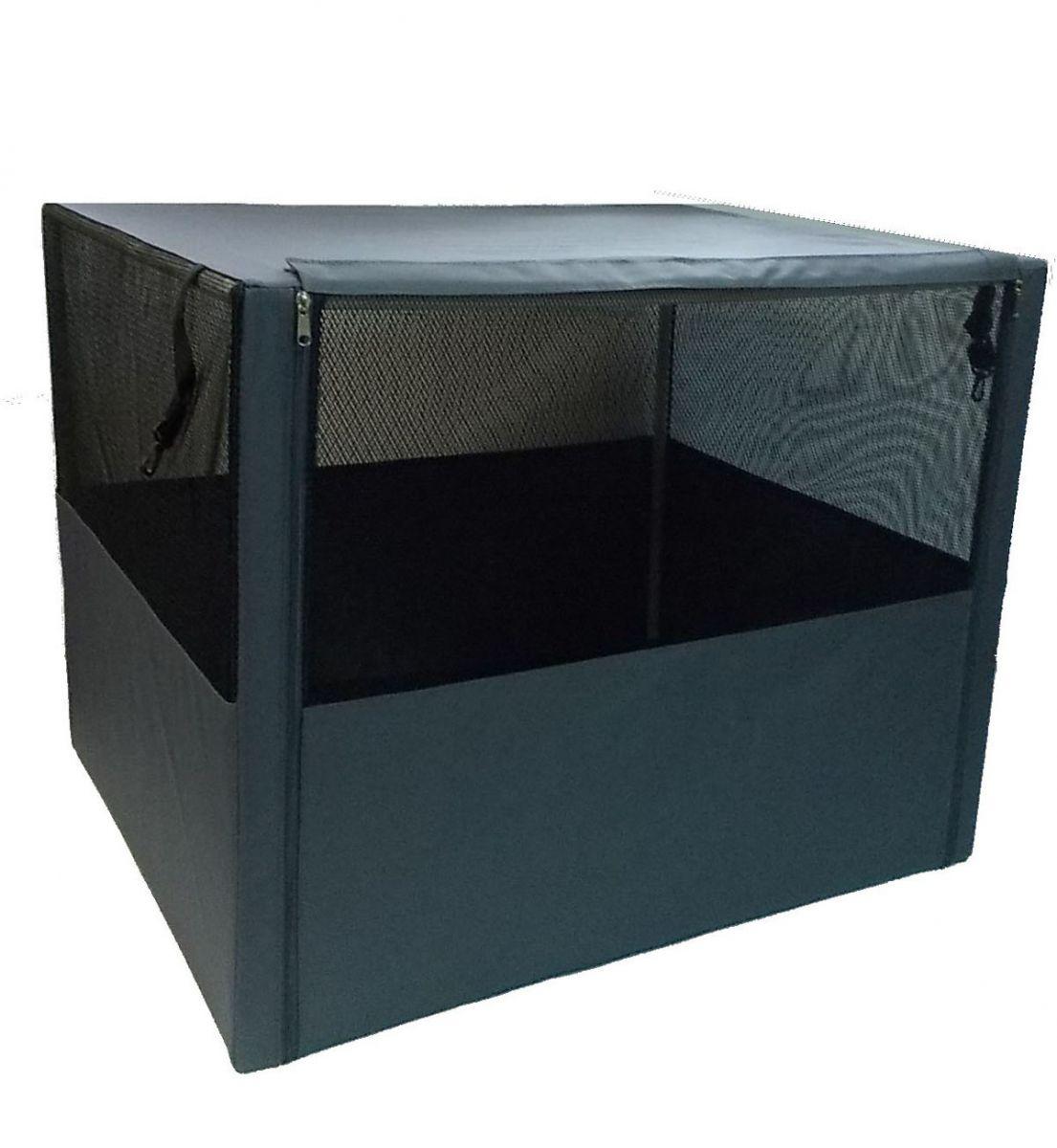 """Клетка-вольер для животных """"Заря-Плюс"""", разборная, цвет: серый, 90 х 70 х 70 см. КВС3"""