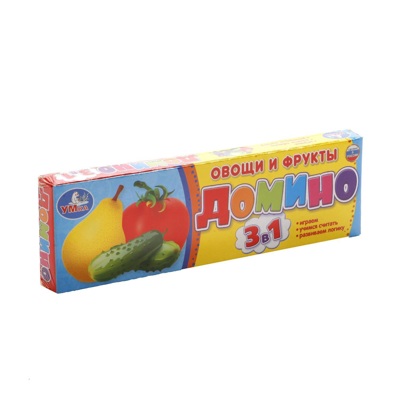 Домино Пластмассовое Овощи И Фрукты настольная игра домино умка овощи и фрукты 3 в 1