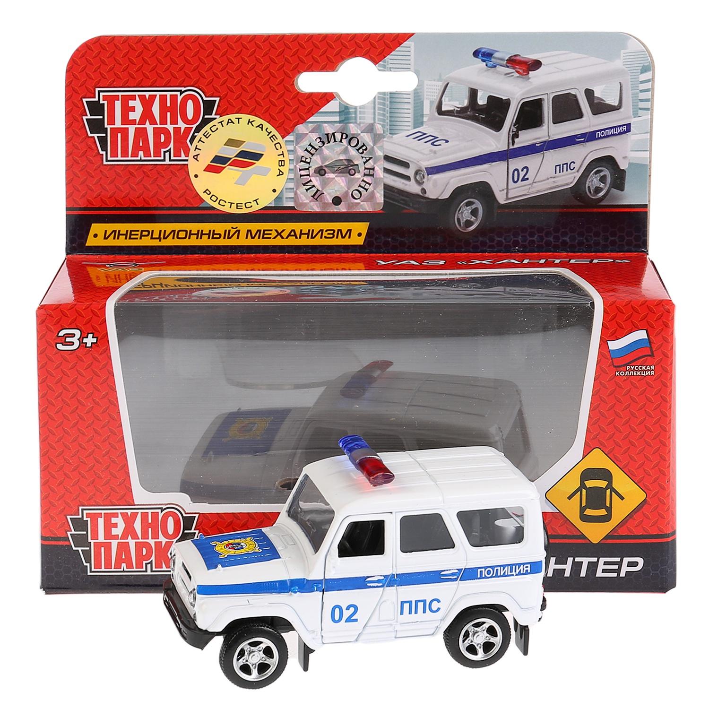 Машина Металл. инерционная Уаз Hunter Полиция открывающиеся Двери машина инерционная joy toy уаз hunter мчс р40513