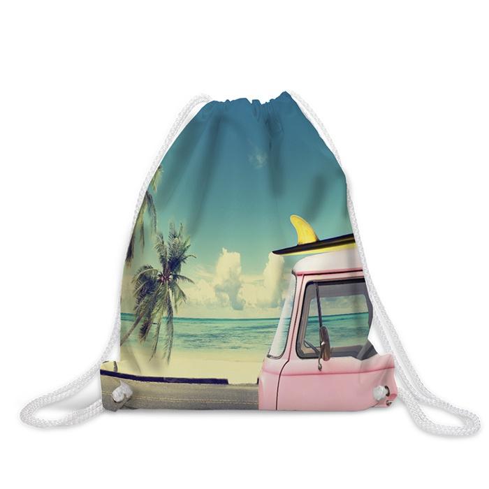"""Рюкзак-мешок """"Розовый фургончик"""" непромокаемый, 38x40 см"""