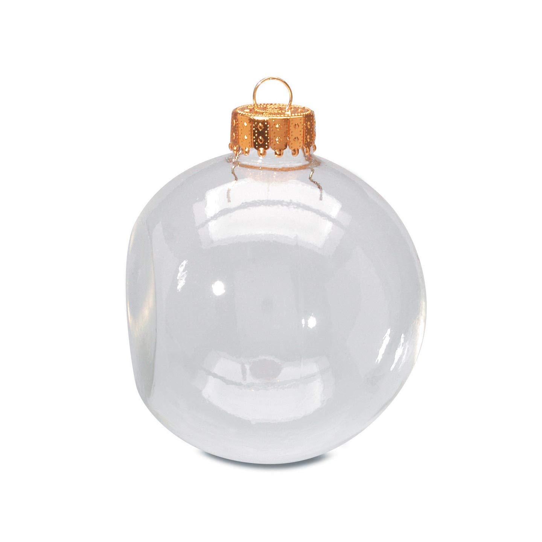 Шар Darice. Стеклянные елочные шары с с плоской гранью 6,6 см