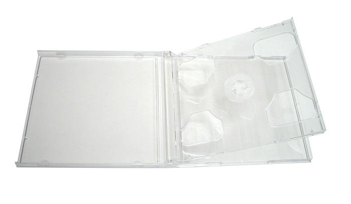 Контейнер для CD Slim двойной прозрозрачный