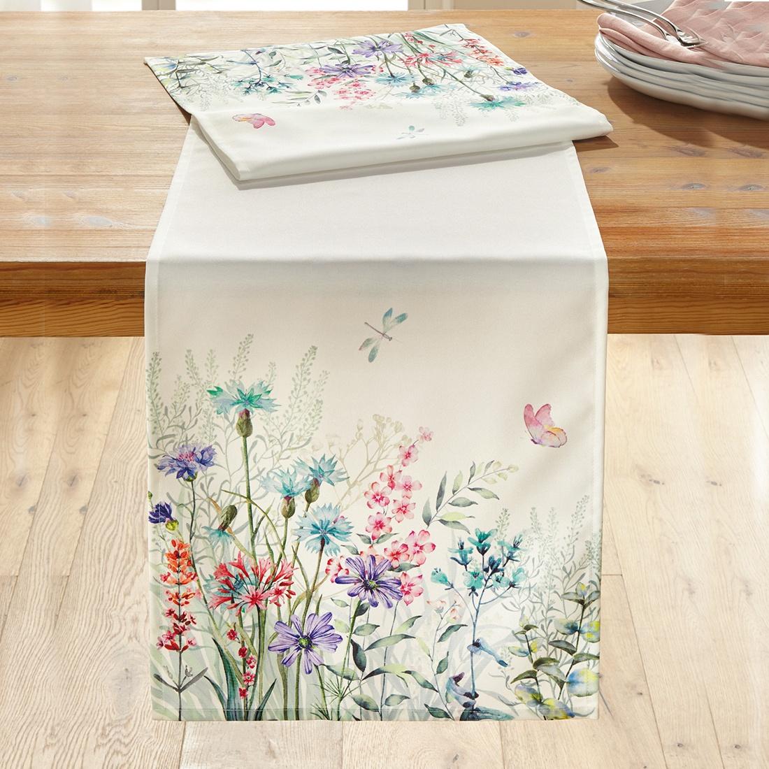 Дорожка на стол Цветочная лужайка цена
