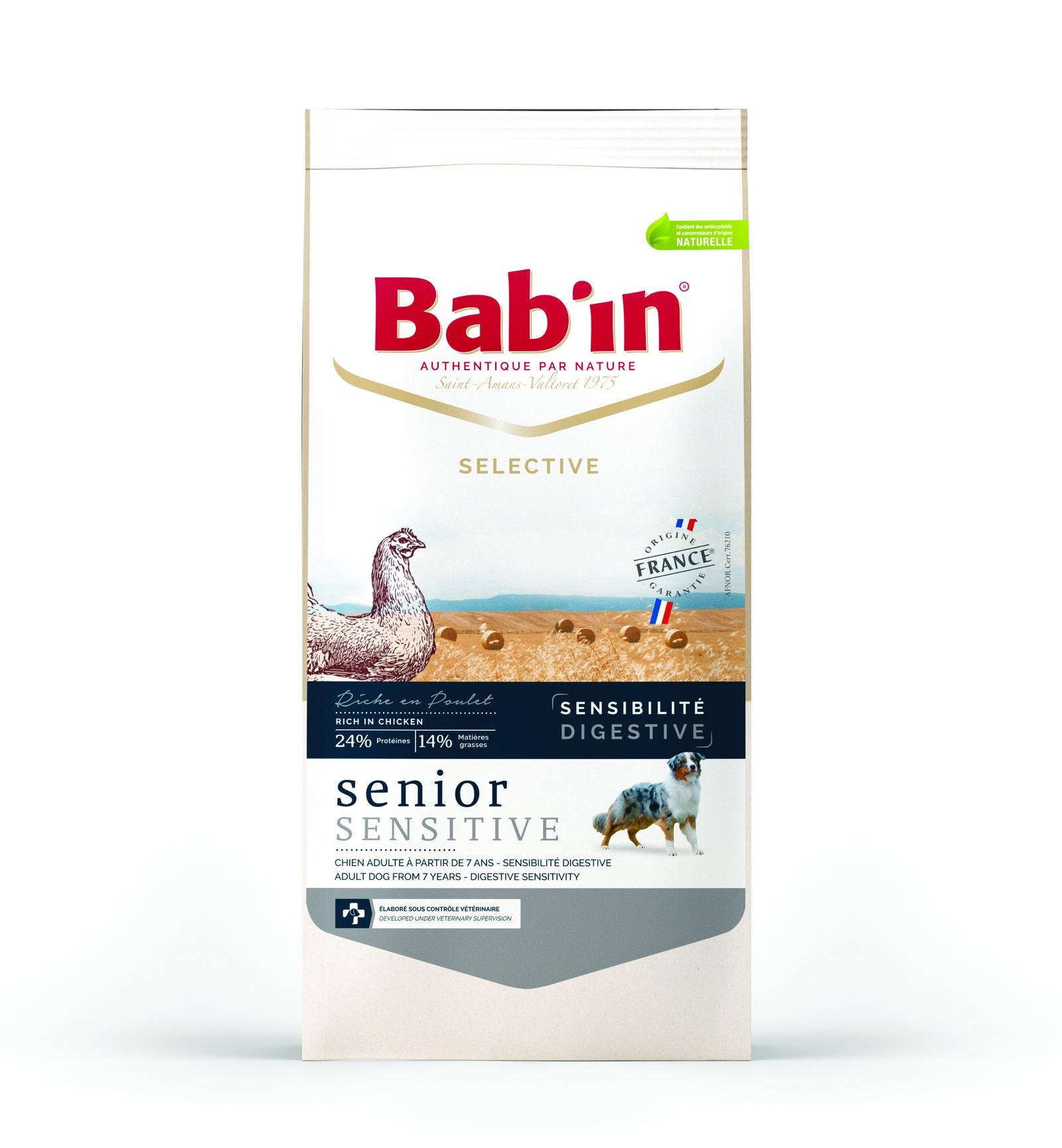 Сухой корм Babin Selective Senior Sensitive Poulet для пожилых собак, 12 кг