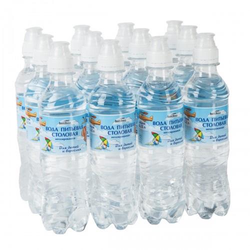 Вода природная питьевая для детей Вкусвилл, 12 шт по 330 мл