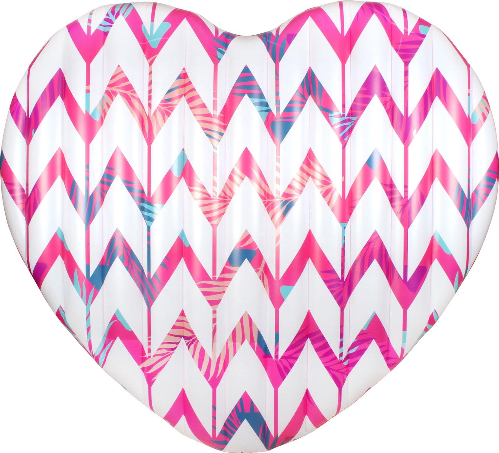 Матрас надувной Сердце 178 х 163 х 18 см