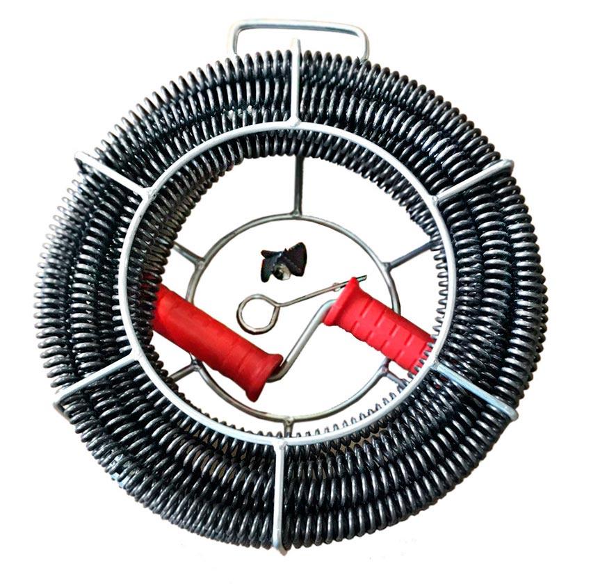 Сантехнический трос для прочистки труб ROTORICA HAND TORO 22 трос для чистки migliores сантехнический трос серебристый черный