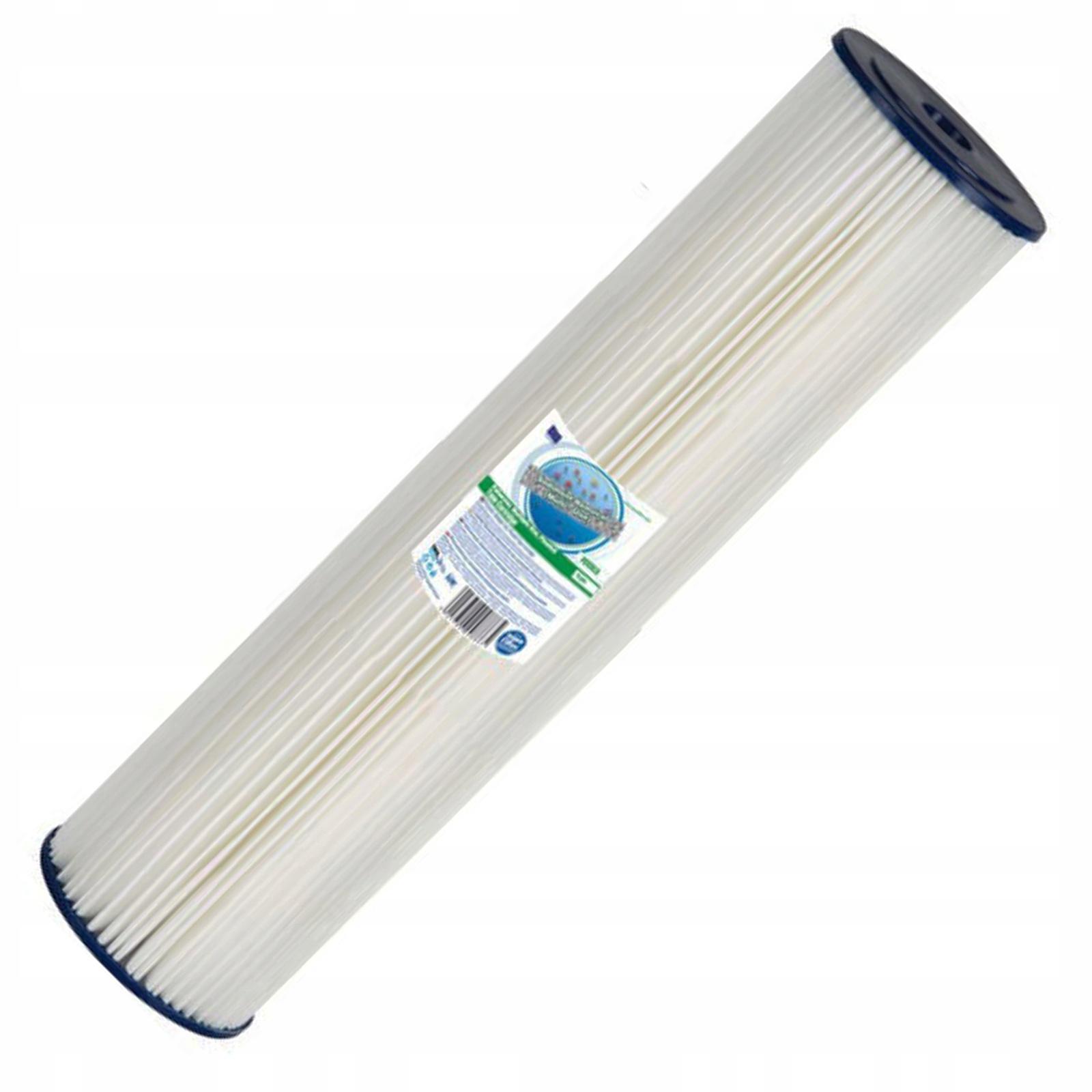 Картридж гармошечного типа 20ВВ - 5 мкм (полиэстер, многократного использования, для холодной воды) Aquafilter FCCEL5M20B, 640