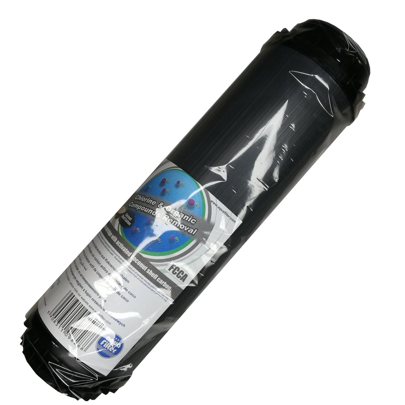 Картридж угольный 10SL (гранулированный кокосовый уголь, гранулы полипропиленового волокна) Aquafilter FCCA, 656