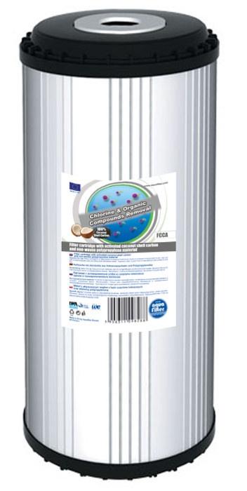 Картридж угольный 10ВВ (гранулированный кокосовый уголь, гранулы полипропиленового волокна) Aquafilter FCCA10BB, 659