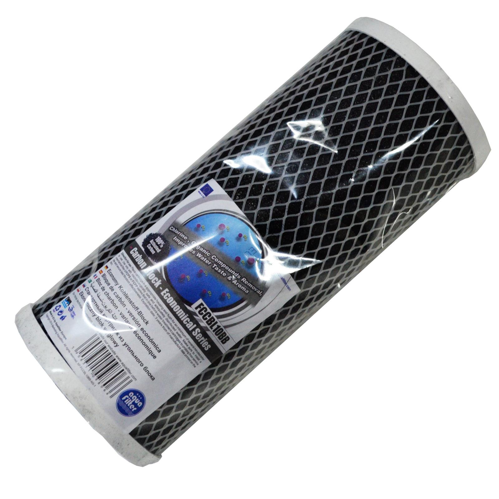 Картридж угольный, карбон-блок 10ВВ (активированный уголь) Aquafilter FCCBL10BB, 679
