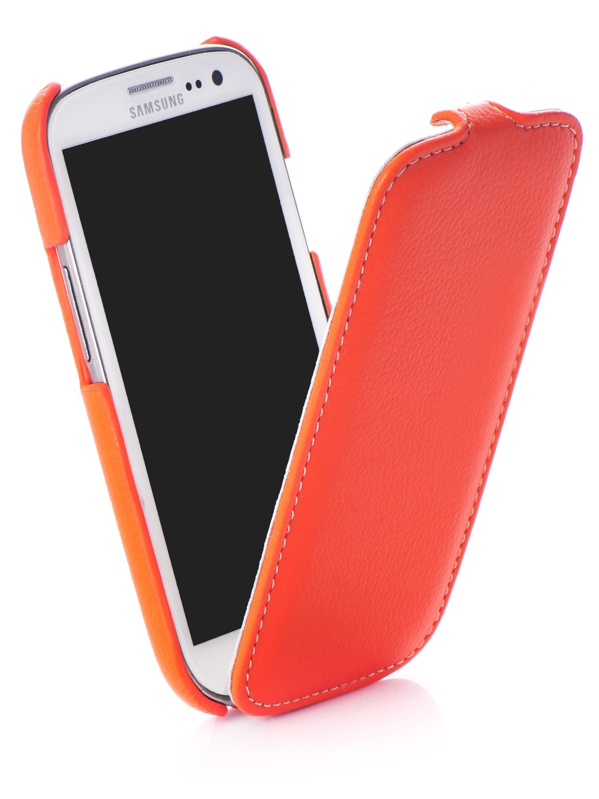 Чехол книжка Melkco кожа orange для Samsung Galaxy S3,380076, оранжевый