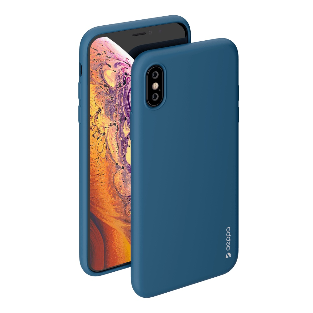 Чехол Deppa Gel Color Case для Apple iPhone X/XS (Синий)
