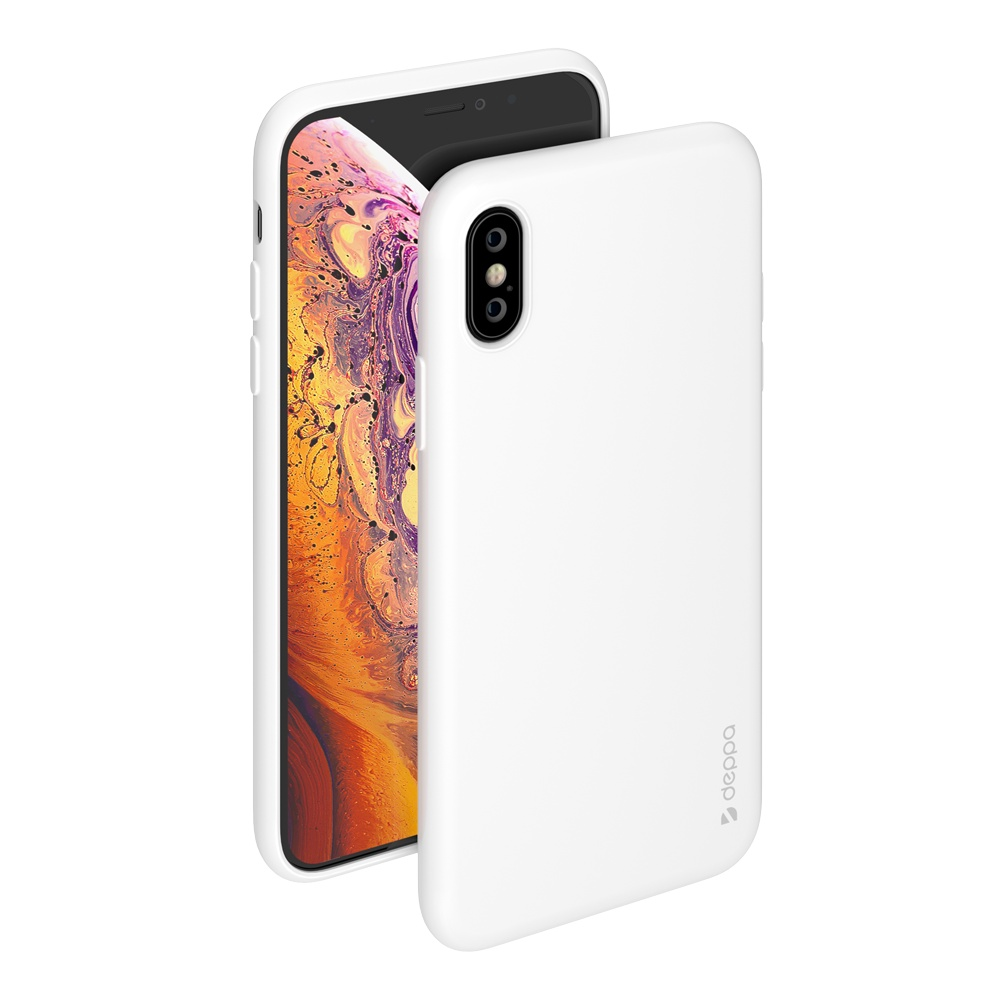 Чехол Deppa Gel Color Case для Apple iPhone X/XS (Белый)
